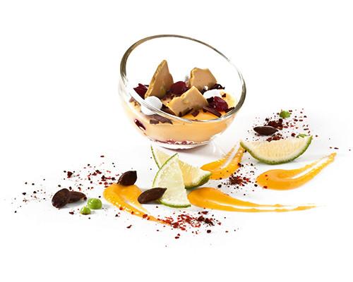 Limetten-Pie im Mini-Bubbleglas