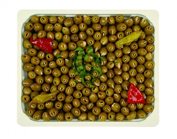 Eingelegte Mammoth Oliven gefüllt mit Mandeln 1,3 kg