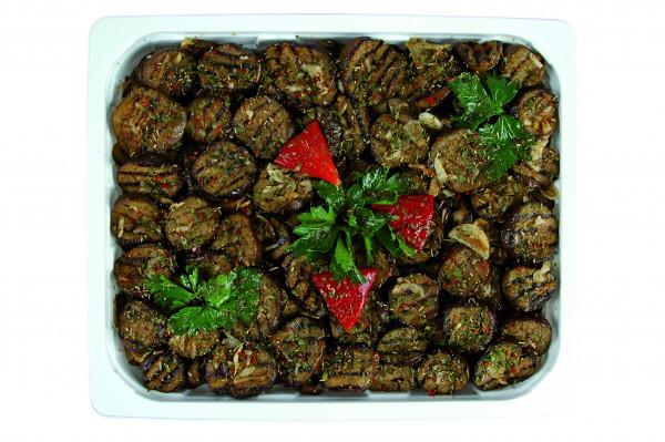 Eingelegte gegrillt Auberginen runde Scheiben 1,3 kg