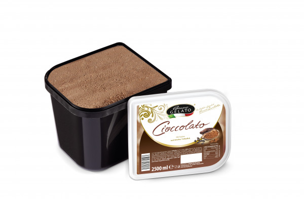 Schokolade 2 x 2,5 Liter Glaceschale (glatt gestrichen)