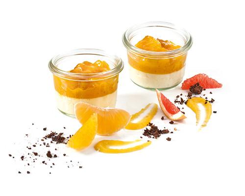 Zabaionecreme mit Orangen-Aprikosen-Ragout Nachfüller