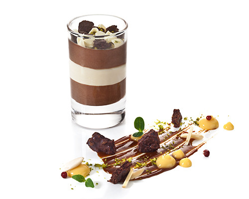 Schokoladen-Ingwer-Mousse im Island-Glas