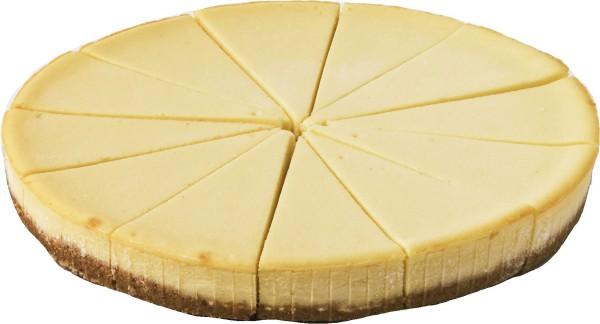 Cream-Cheese-Cake New York geschnitten