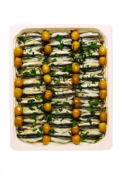 Sardellen Filets Oliven 1,3 kg