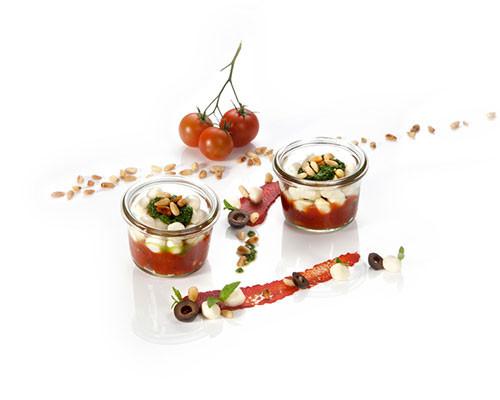 Tomatenkompott und Mozzarella Nachfüller