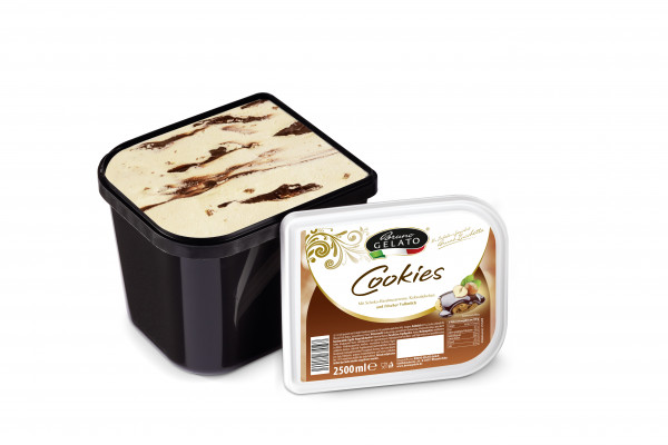 Cookies 2 x 2,5 Liter Glaceschale (glatt gestrichen)