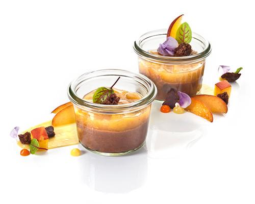 Schokoladencreme mit Pfirsichragout Nachfüller