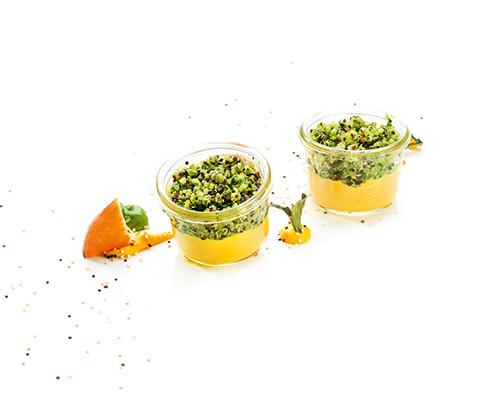 Quinoa-Kräuter-Salat auf Süßkartoffeln Nachfüller