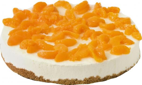 Frischkäse-Sahne-Torte belegt mit Mandarinen
