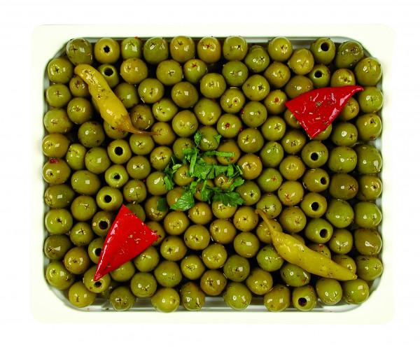 Eingelegte grüne Oliven kernlos 1,3 kg