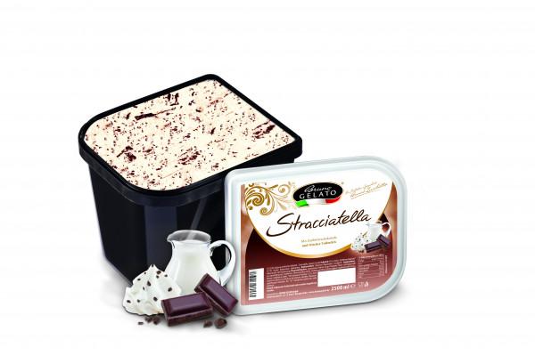 Stracciatella 2 x 2,5 Liter Glaceschale (glatt gestrichen)