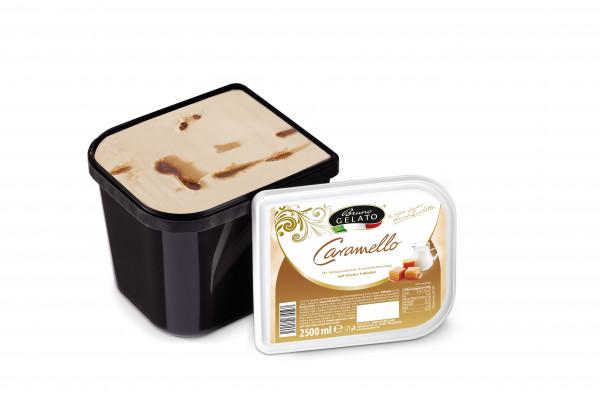 Sahne-Caramel 2 x 2,5 Liter Glaceschale (glatt gestrichen)