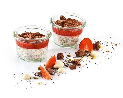 Mohnmousse mit Erdbeersauce Nachfüller