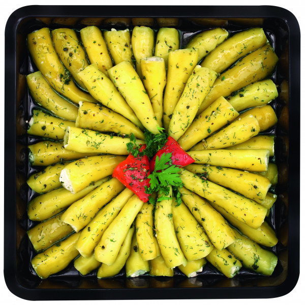 Grüne Peperoncini gefüllt mit Frischkäse 1,3 kg