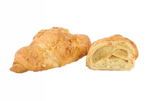Marzipan-Croissant mit gehobelten Mandeln