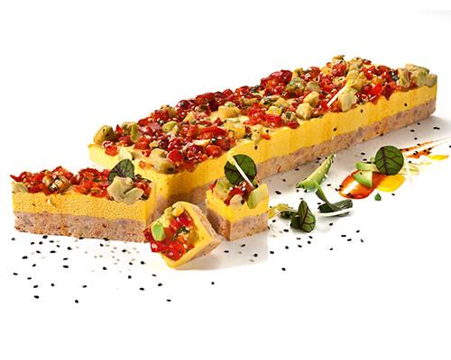 Garnelen-Mango-Avocado-Schnitte