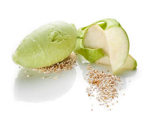 Grünes Apfelsorbet