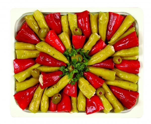 Peperoni + Peperoncini gefüllt mit Frischkäse 1,3 kg
