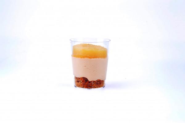 Gänseleber-Mousse mit Apfel und Lebkuchen Crumble