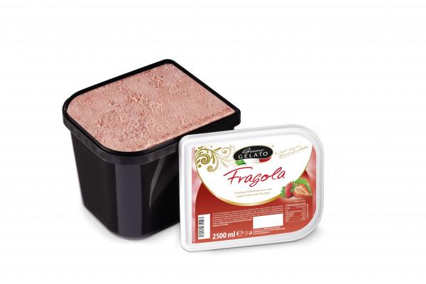 Erdbeere 2 x 2,5 Liter Glaceschale (glatt gestrichen)