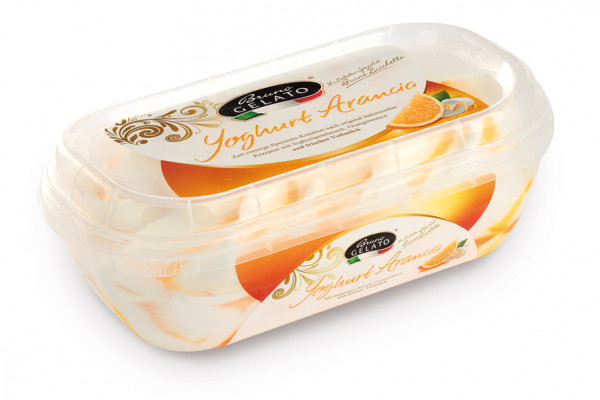 Joghurt Orange 900 ml Glaceschale