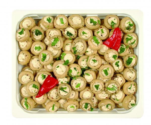 Champignons gefüllt mit Frischkäse 1,3 kg