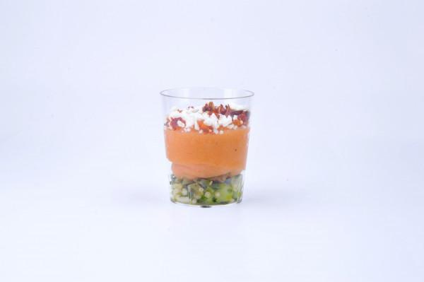 Süßkartoffelcreme, Quinoa, Feta