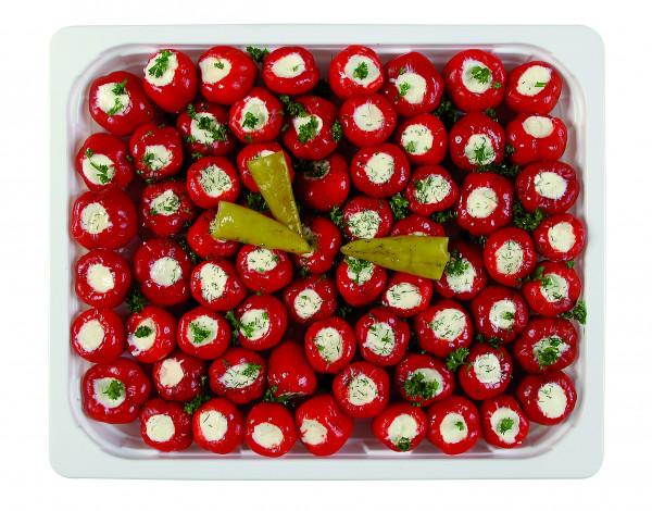 Kirschpeperoni gefüllt mit Frischkäse 1,3 kg